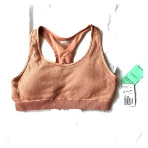 NWT Forever 21 sports bra top L nude pink